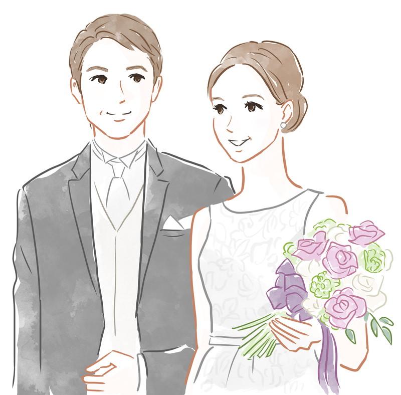 結婚式仲良く