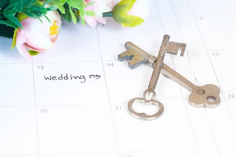 結婚する日